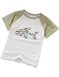 Koly Verano casual unisex niños dibujos animados de impresión de carácter camisetas cortas