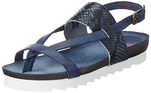 Fred de la Bretoniere Damen Sandale Zehentrenner Blau (Blue)
