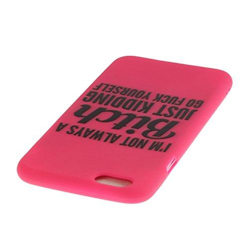 iPhone SE Coque,iPhone 5S Case,iPhone 5 Cover - Felfy Cas Ultra léger Mince Slim Gel Souple Soft Flexible TPU Silicone Fashion Couleurs de Bonbons Etui Couverture de Protection Bumper Anti Rayures Ant Rouge Bitch