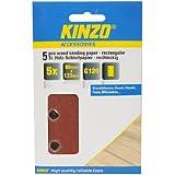 Kinzo 71707 5 Feuilles Papier abrasif à bois 80 x 133 mm G120