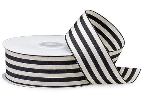 Black Cabana Stripes Ribbon1-1/2 inch X25 Yds 100% Nylon