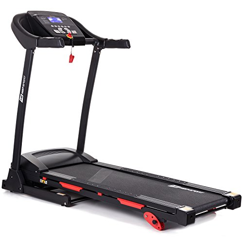 Hop-Sport elektrisches Laufband mit Bluetooth 9 Programme klappbar LCD-Display bis 150 kg belastbar 0.8 bis 14 km/h Heimtrainer Fitnessgerät