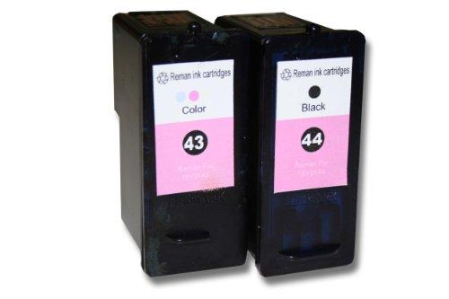 vhbw 2X Druckerpatrone Tintenpatrone Set für Lexmark P350, X4850, X4875, X4950, X4975, X6570, X6575, X7550, X7675, X9350 wie 41, 41a, 42, 42a, 43, 44. -