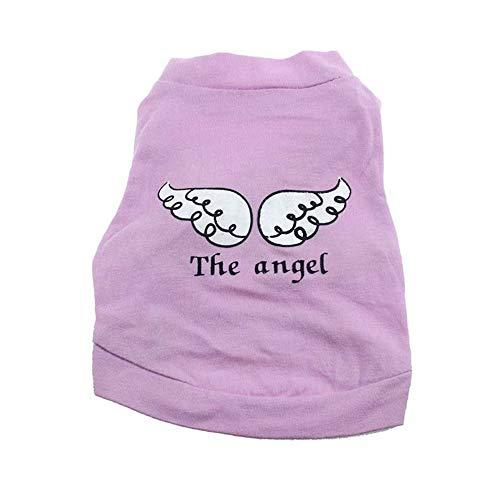 EUZeo Lovely Haustierkleidung Pet Puppy Dog Kleidung Angel Wing Muster T-Shirt Shirt Tops Hündchen Haustierbekleidung Kleiner Hund Kätzchen Kleine Katze Pullover ()