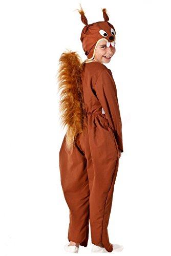 Eichhörnchen Kostüm Kinder - Kinderkostüm Eichhörnchen für Jungen & Mädchen (Kinder Kostüme Für Eichhörnchen)