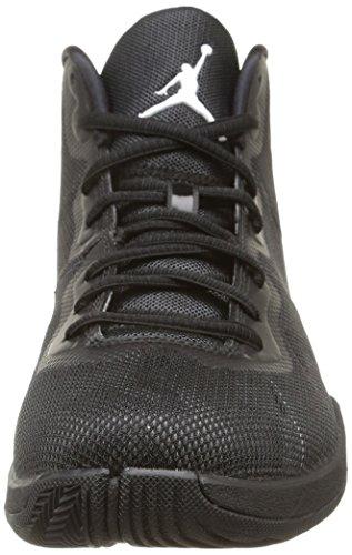 Nike Jordan Super.Fly 4, Chaussures de Sport Homme multicolore (Black/White-Drk Grey-Infrrd 23)
