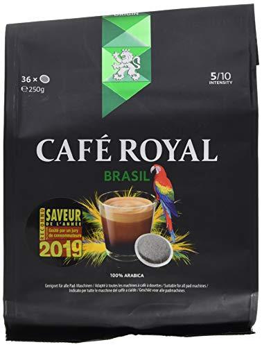 Café Royal Single Origin Brasil 36 (kompatible Kaffeepads für Senseo, Intensität 5/10) 1er Pack (1 x 36 Kaffee-Pads)
