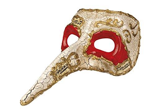Moderne Maskenball Kostüme (erdbeerloft - Herren Kostümzubehör: Venezianische Maske mit Nase,)