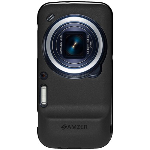 Amzer 96124 Pudding TPU Case - Black for Samsung Galaxy S4 zoom SM-C1010