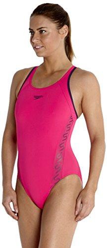 ad4ce26276 Speedo Women s Monogram Muscleback Swimsuit - POP PINK GRAVITY Size ...