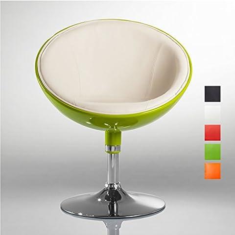 Lounge Sessel Grün-Weiß Kunstleder-Kunststoff Mix Clubsessel Cocktailsessel Farbwahl - TYP