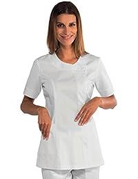 Isacco - Tunique blanche professionnelle 65% Polyester 35% Coton