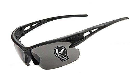 Inception Pro Infinite (Schwarzer Rahmen - graue Linse) Sonnenbrillen - Sport - Männer - Laufen - Radfahren - Ski - Polarized Uv400 -