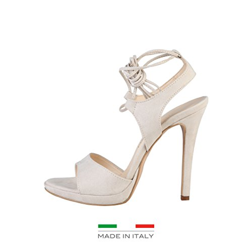 Made in Italia - Erica, Sandalo col tacco Donna Beige