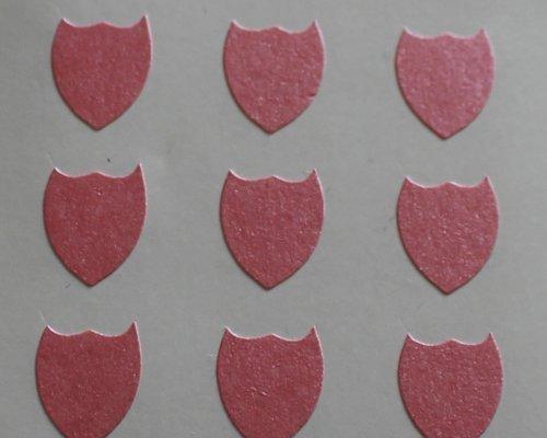 150 Etiquetas, 10x8mm Forma De Escudo, Rosa, pegatinas autoadhesivas, Minilabel Formas