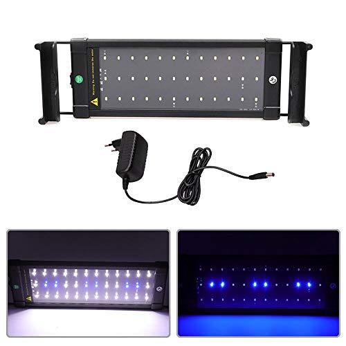 SolarNovo LED Aquarium BeleuchtungAufsetzleuchte IP67 Abdeckung LED Lampe AufsetzleuchteAbdeckungKlemmleuchte Clip Lampe für 30-90cm Aquarium (für Aquarium 30-45cm)