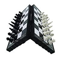 pushfocourag Magnetic Travel Chess Set Folding Board Parent-Child Educational Toy Family Game