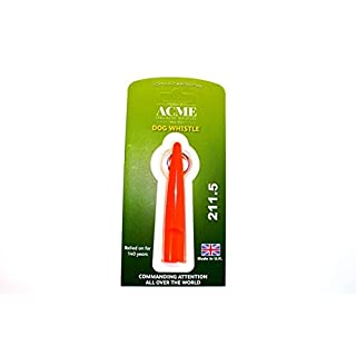Acme United Europe Hundepfeife ACME 211.5 Training Whistle – von Dog & Field 4 Farbe Optionen
