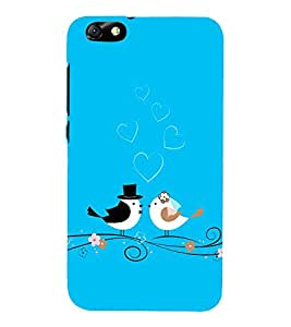 PrintVisa Designer Back Case Cover for Huawei Honor 4X :: Huawei Glory Play 4X (heart love flowers I love you love couple)