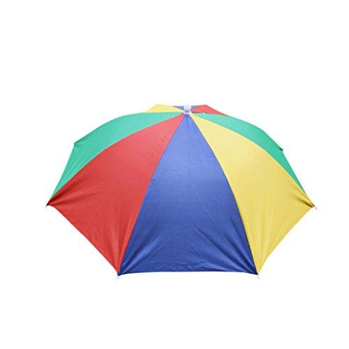 Trada Draussen Faltbar Sonnenschirm Hut, Kopfbedeckung Kappe Kopf -