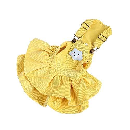 Winter Fantasy Kostüm - Jadeyuan Kostüm Haustier Kleidung Gurt Kleid Cord Kleidung Rock Fantasy Hosenträger Rock Hunde Welpen Katzen Herbst und Winter Kostüm Bekleidung Bekleidung (Color : Yellow, Size : L)