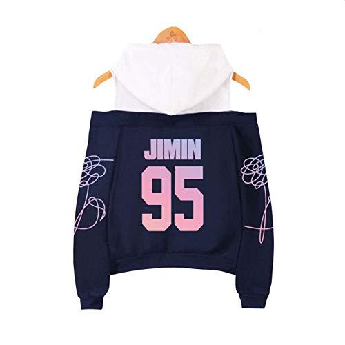 ZIGJOY Kpop BTS Love Yourself Tear Sweat à Capuche sans Bretelles avec  Sweat-Shirt Suga Jin Jimin V Jungkook J-Hope for Fans Royal-Jimin XS