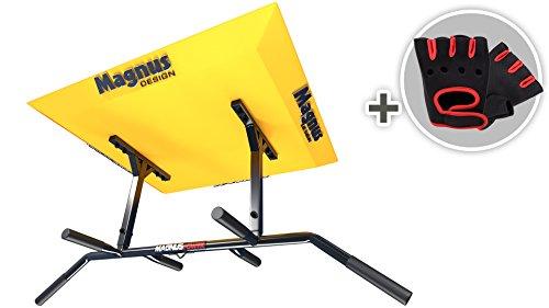 MAGNUS® POWER MP1025 - ORIGINAL - Klimmzugstange (Deckenmontage) 6 Griffweiten + Handschuhe + Halterung für Sling Trainer / Boxsack