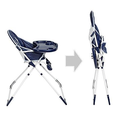 TecTake® Kinderhochstuhl Babyhochstuhl klappbar blau - 6