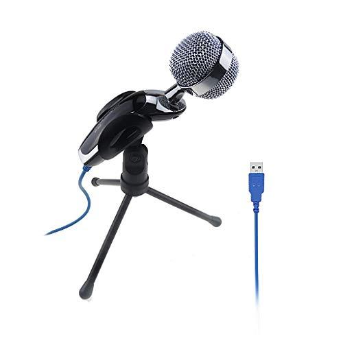 LHJCN USB Mikrofon Kondensator Mikrofon,Podcast Microfon PC,Computer Standmikrofon Aufnahmemikrofon Microphone für Studio Aufnahmen Skype YouTube mit Ständer und Popschutz (Windows/Mac)