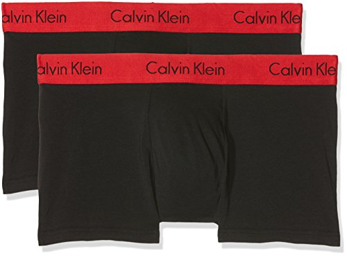 Calvin Klein Herren Trunk 2PK Hipster, Schwarz (Black W Impact Wb Ixy), X-Large (erPack 2 (Calvin Klein Unterwäsche Herren 2 Pack)