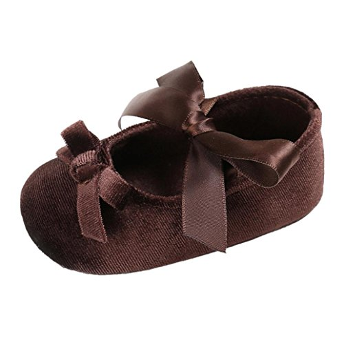 BZLine® Baby Komfort Blume weiche Prewalker weiche Sohle Anti-Rutsch Schuhe Braun nLUOFlFY9