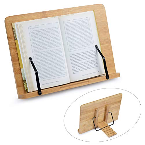 FOCCTS Soporte Bambú Ajustables Ideal Leer, Ver Videos