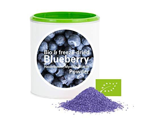 Heidelbeerpulver – Bio Heidelbeere gefriergetrocknet |bio organic| freeze-dried blueberry| good-superfruit von good-smoothie| 100{0f454b2f828db89cae2fa0bedd2e4edf09d71fe691f951dc404853c3c39be265} frucht |ohne zusatzstoffe + viele Inhaltsstoffe| 120g