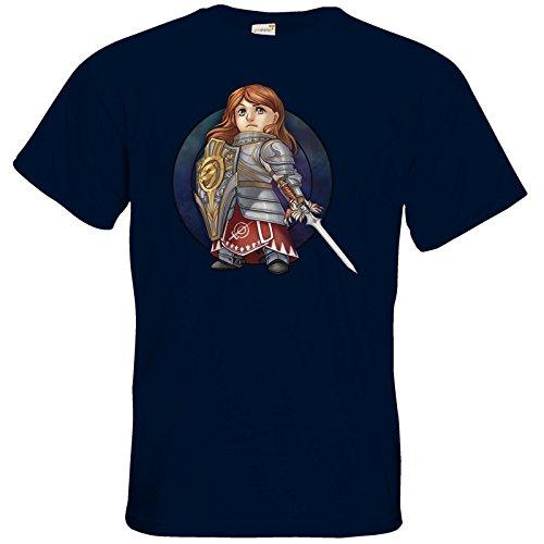 getshirts - Das Schwarze Auge - T-Shirt - Götter - Rondra - Chibi Navy