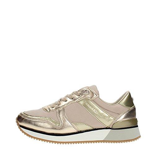 Tommy Hilfiger Metallic Sneaker, Sneakers Basses Femme Beige (Sand 102)