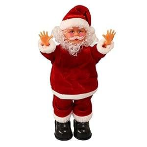 weihnachtsmann singend tanzend mit handstand 31cm. Black Bedroom Furniture Sets. Home Design Ideas