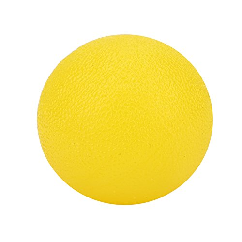 Hand-Übungsbälle, Silikon-Massagebälle für die solide Hand-Therapie, BPA-freies Fingermassagegerät(Gelb) (übungsbälle Hände Für Die)