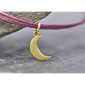 Armband Mond Luna vegan Freundschaftsamband beere