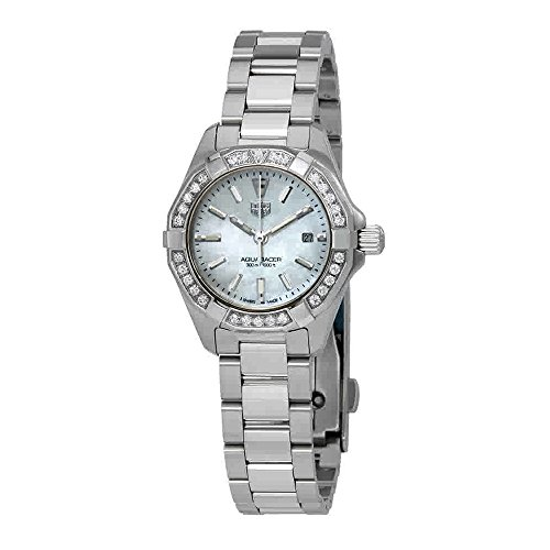 Tag Heuer WBD1413.BA0741 - Reloj de pulsera para mujer con esfera de nácar y diamantes blancos