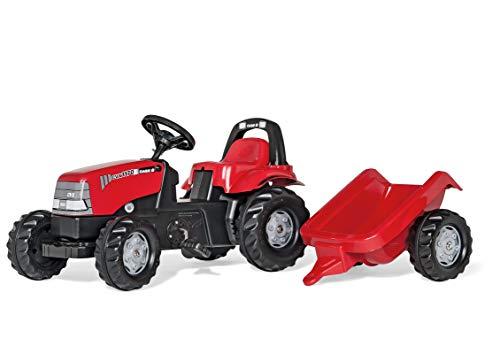 Rolly Toys rollyKid Case 1170 CVX Trettraktor mit Anhänger (für Kinder von 2,5 bis 5 Jahren, Heckkupplung) 012411