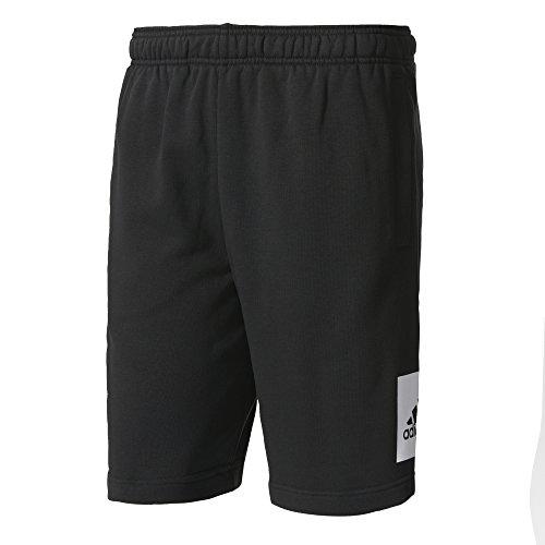 Adidas Ess lo ft Pantaloni corti, uomo Nero (Black/White)