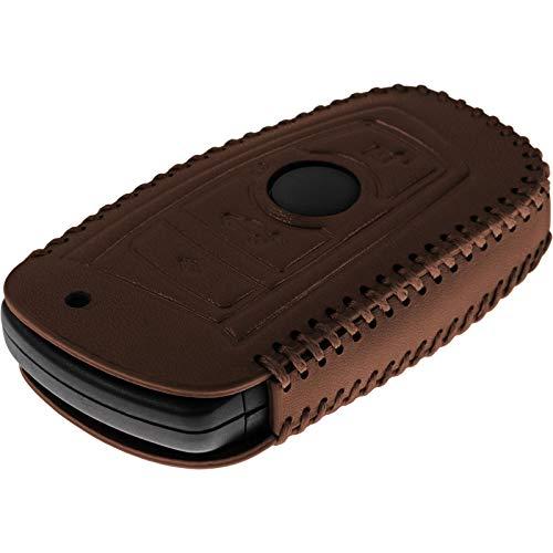 DYBANP /Étui en cuir et fibre de carbone pour cl/és BMW