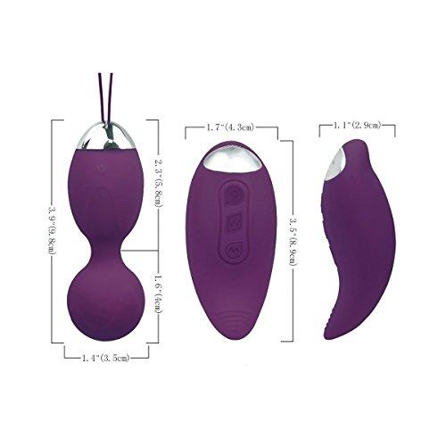 Fovel Liebeskugeln für Frauen Medizinisches Silikon Beckenboden- Kegel Übung Bälle - Für die Blasenkontrolle und Beckenbodenübungen Lila