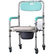 Cabecera comoda aluminio aleación ancianas discapacitadas embarazadas aseo impermeable asiento silla WC silla de ruedas con freno