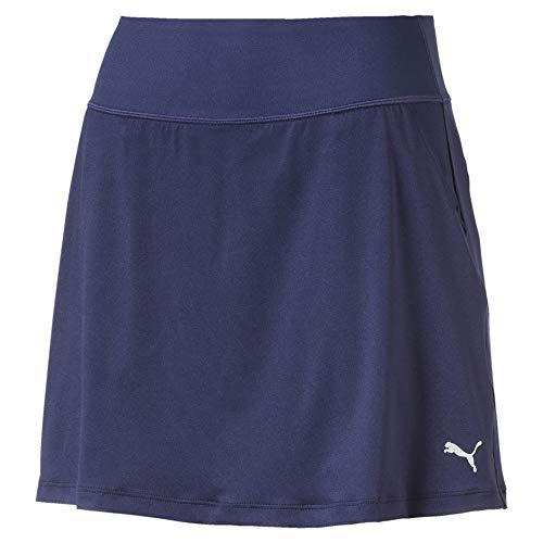 Puma Damen Pwrshape Solid Knit Skirt Rock, Peacoat, M - Solid Knit Short