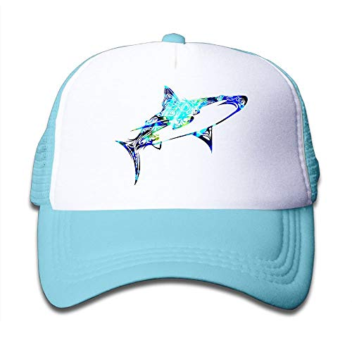 zhong xuyi Caps Camo Shark Funny Boys Mesh Hat Baseball Caps Adjustable Trucker Cap Camo Full Back Cap