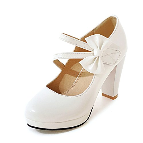 Head light shoes/chaussures talons chunky/Les mot bow chaussures basses B