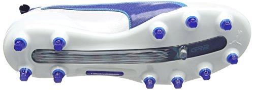Puma Evotouch 1 Fg Jr  Unisex Kids    Footbal Shoes  White  Puma White-true Blue-blue Danube 02   3 UK  35 5 EU