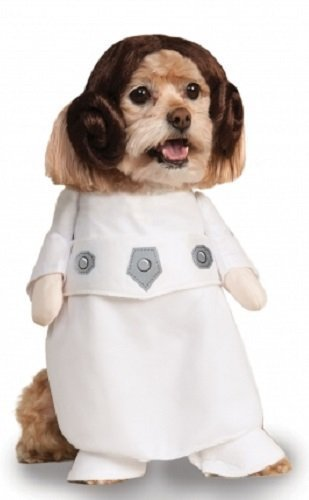 Haustier Hund Katze Welpe Animal Star Wars Prinzessin Leia Halloween Weihnachtsgeschenk Maskenkostüm Kleidung Outfit - (Star Haustiere Wars)