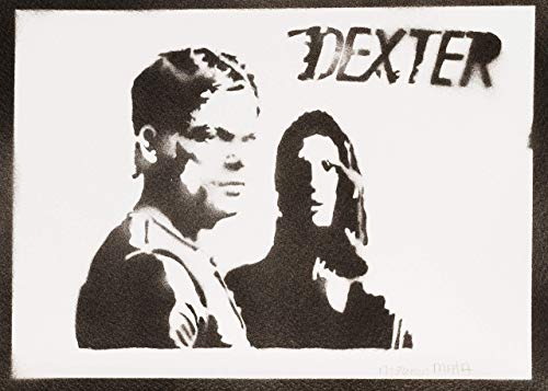 Poster dexter e debra morgan handmade graffiti street art - artwork
